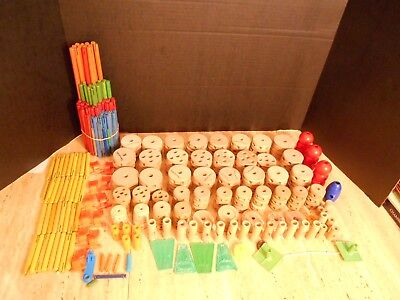 Tinker Toy Mixed Lot of 8 lbs.+ pieces 4 containers & original instruction sheet