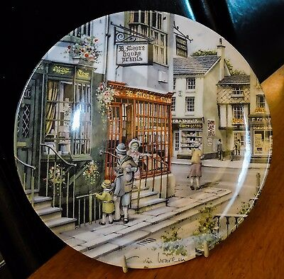 Royal Doulton Window Shopping Collector Plate Series The Book Shop