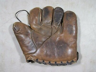 Antique Early 1900's Peerless Product F-87 Horsehide Baseball Glove New York USA