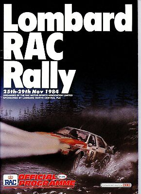 Lombard Rac Rally Programme 1984 Official Programme