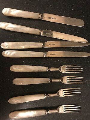 1928 Sheffield Mother Of Pearl Cutlery