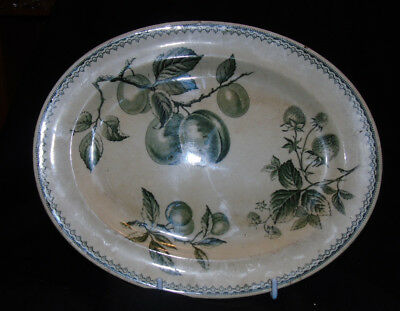 """Vintage Burgess and Leigh Hill Pottery  """"Fruit"""" Oval Plate ..rare"""
