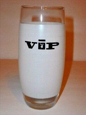 Vintage Playboy Club VIP Tall Frosted Glass