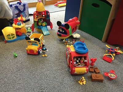 Huge MICKEY MOUSE Clubhouse bundle. Camper van, figures, accessories etc