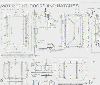 Water Tight Doors And Hatches Plan For Model Ship Drawn By David Macgregor 1964