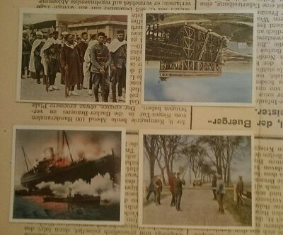 German Ww1 ,front Newspaper ,+ 4 Pic Cards /1914/18 , Somme ,kaiser,