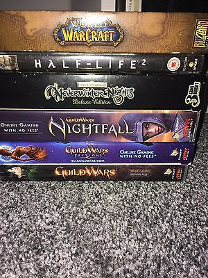 Bundle of PC Games: Warcraft Guildwars Halflife