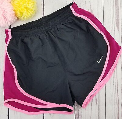 Nike Womens Shorts Dri-Fit Tempo Running Gym Athletic Black Purple Pink Size XS