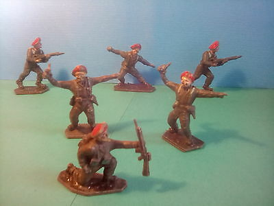 VINTAGE LONE STAR RED BERETS x6 , c1960's . *U.K..ONLY.