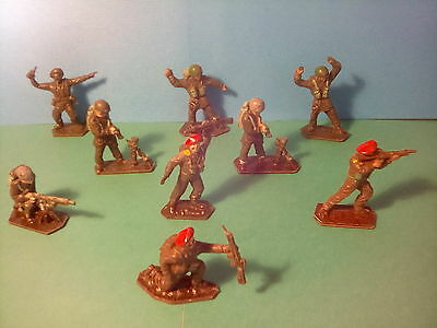 LONE STAR SOLDIERS x9 , RED BERETS  & PARATROOPERS . c1960's .Lot.EEE13*U.K.ONLY