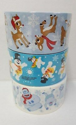 (Set of 3 Rolls) Christmas Duct Tape ~ Rudolph, Abominable Snowman and Frosty