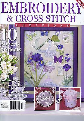Embroidery & Cross Stitch Magazine, Butterfly Flowers Tiger Stump work Crewel
