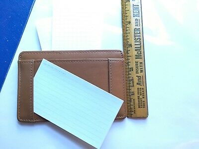 Levenger brown leather small card case