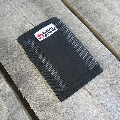 Fire Hose Wallet ID Credit Card Holder Case Repurposed Recycled MADE IN USA BLK