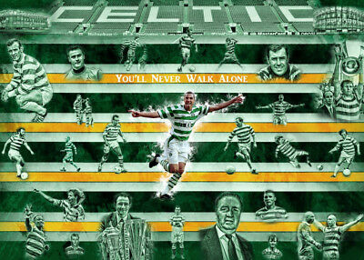 Old firm Celtic Rangers posters