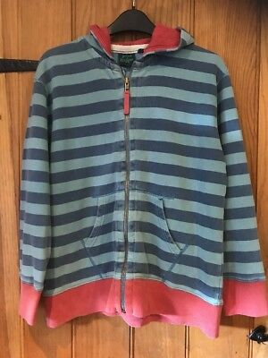Mini Boden Lovely Boys Striped Zip Hoodie Age 11-12yrs