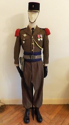 Algérie Legion Lot Tenue Uniforme Kepi 1° Regiment Etranger Parachutiste