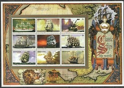 X367 Grenada Classic Ships Of The World Kb Mnh