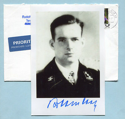Liebstandarte Knights Cross Panzer Ace Signed Pic -