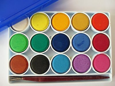 Camel Students Water Colors Travel Mini Set Art Crafts Materials 15 Shades GoART