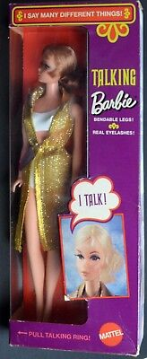 Barbie Doll-Mattel-Talking With Gold Outfit-Mint Boxed-NRFB-1969RCKD