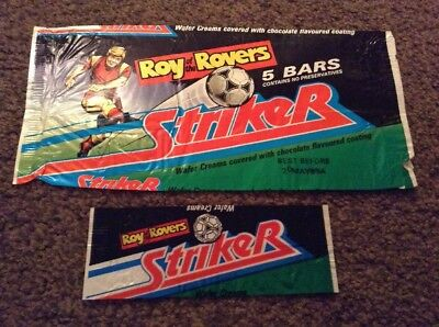 Roy Of The Rovers Striker Bar Wrappers 1989