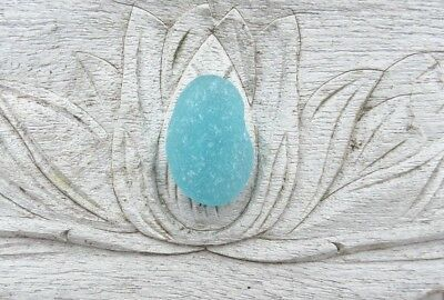Sea Glass. One Aqua pendant. Surf-tumbled & frosted. Jewelry.