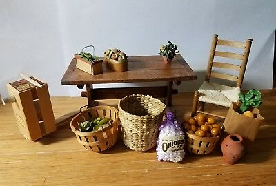 Dollhouse Miniature Road Side Stand Farm Country Lot Food