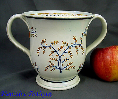 Rare Antique Pearlware Loving Cup c. 1790