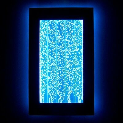 """30"""" Bubble Wall Mount Aquarium LED Lighting Indoor Panel Water Feature Fountain"""