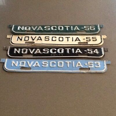 License Plate Tags Nova Scotia 53,54,55,56