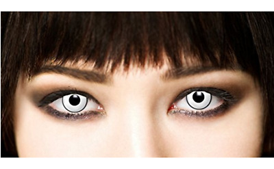 Lentillas de Color Blanco Ideal para Halloween - Accesorio 3 Meses de Duracion