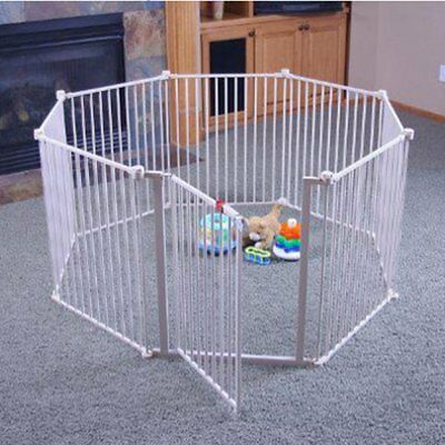 Regalo 4 in 1 Configurable Metal Play Yard, White
