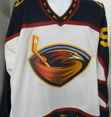 Atlanta Thrashers Hockey Jersey with #55, CCM XXL, No Name Plate on Back