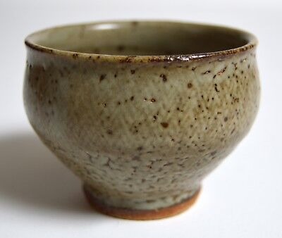 signed TATSUZO SHIMAOKA MINGEI studio pottery rope impressed tea cup