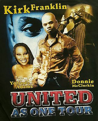 Kirk Franklin United As One 2Xl/xl Throwback Deadstock Concert Tour 2003 Hip Hop