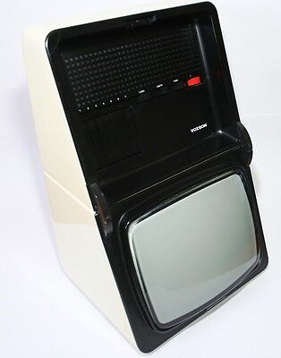 """Rare And Stilish 1970 Television Voxson T1228 Oyster 12"""" Italy Space Age Vintage"""
