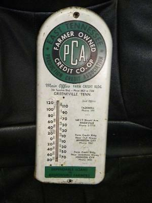 Old East Tennessee Farm Co-Op Tin Thermometer Sign Knoxville Original