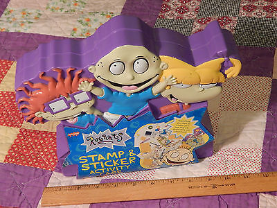 (1997) Nickelodeon *RUGRATS* (Stamp & Sticker Activity Case) Klasky Csupo *NOS*