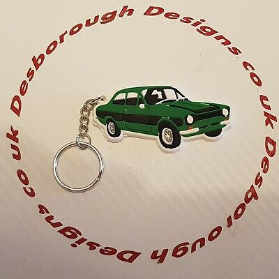 MK1 Escort Key Ring Dark Green And Black  Key Ring