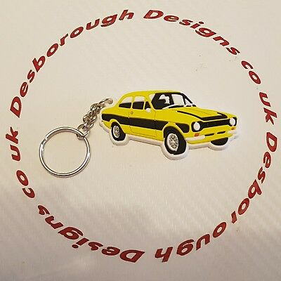 MK1 Escort Key Ring Yellow And Black  Key Ring