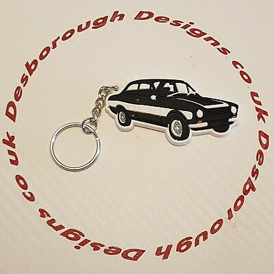 MK1 Escort Key Ring Black & White  Key Ring