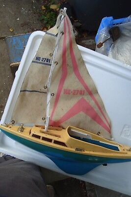"""Toy Boat Battery Sail Boat  Spares To  Repair  12"""" Long"""