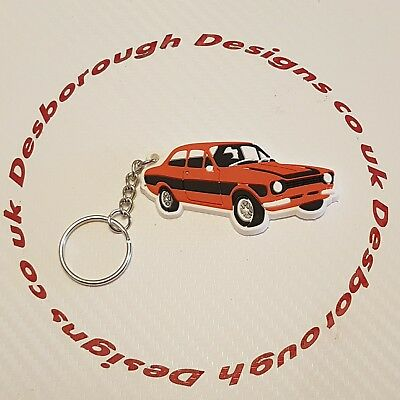 MK1 Escort Key Ring Orange & Black Key Ring