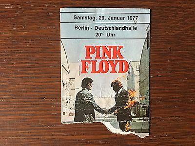 "Pink Floyd Concert Ticket Stub ""Animals Tour"" 1977, Berlin Germany, Original"