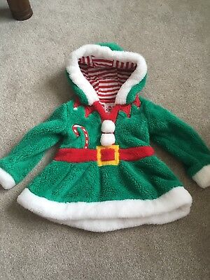 Girls Xmas Christmas Jumper Elf 18-24 Months
