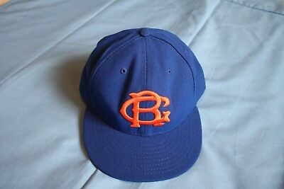 Travis D'Arnoud New York Mets game used Brooklyn Royal Giants Giants style hat