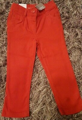 Next girls red jeans 18-24months BNWT