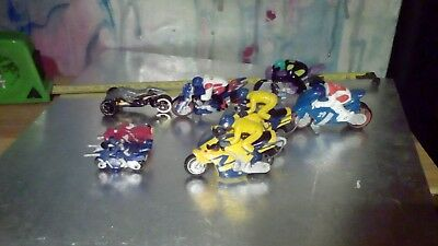 Hot Wheels and others Diecast TOY Motorcycles BULK LOT of 8 USED Bikes