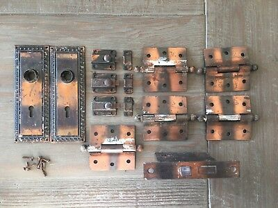 """Japanned Hardware Latches Escutcheons Plates Stanley SW Sweetheart 3"""" Hinges"""